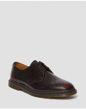 Black Friday Sale Dr. Martens ARCHIE II ARCADIA LEATHER LACE UP SHOES - CHERRY RED ARCADIA