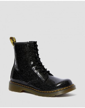 Dr.Martens YOUTH 1460 GLITTER LACE UP BOOTS - BLACK COATED GLITTER - Sale
