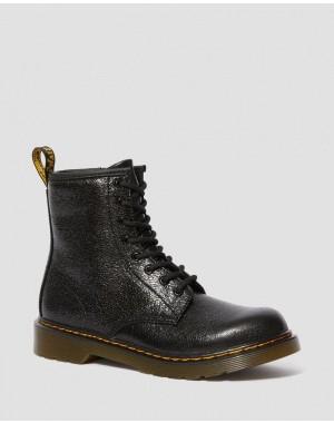 Dr.Martens YOUTH 1460 CRINKLE METALLIC LACE UP BOOTS - BLACK CRINKLE METALLIC - Sale