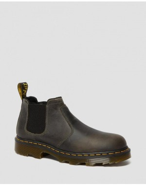 PENLY LIGHTWEIGHT CHELSEA WORK BOOTS - BLACK GREENLAND