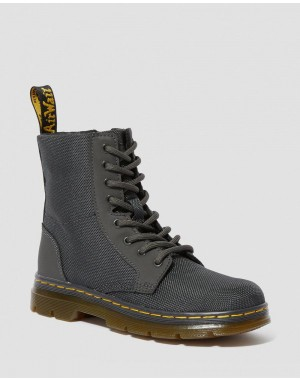 Dr.Martens JUNIOR COMBS EXTRA TOUGH POLY CASUAL BOOTS - CHARCOAL EXTRA TOUGH POLY+RUBBERY - Sale