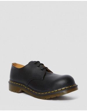 1925 LEATHER OXFORD SHOES - BLACK FINE HAIRCELL