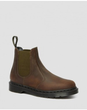 Black Friday Sale Dr. Martens 2976 POP CRAZY HORSE LEATHER CHELSEA BOOTS - GAUCHO CRAZY HORSE