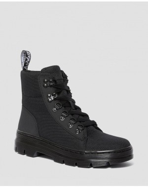 Black Friday Sale Dr. Martens COMBS WOMEN'S POLY CASUAL BOOTS - BLACK AJAX+EXTRA TOUGH POLY