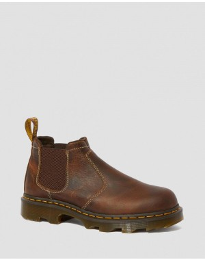 Dr.Martens PENLY LIGHTWEIGHT CHELSEA WORK BOOTS - TAN GREENLAND - Sale