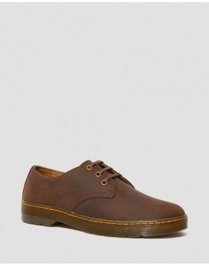 Dr.Martens CORONADO MEN'S CRAZY HORSE LEATHER CASUAL SHOES - GAUCHO CRAZY HORSE - Sale