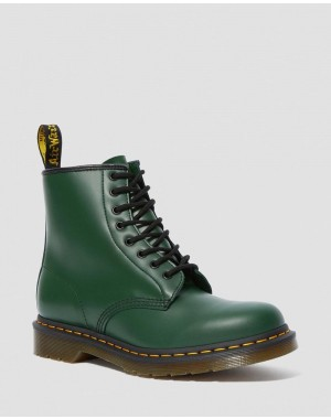 1460 SMOOTH LEATHER LACE UP BOOTS - GREEN SMOOTH