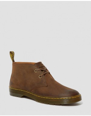 CABRILLO MEN'S CRAZY HORSE LEATHER DESERT BOOTS - GAUCHO CRAZY HORSE