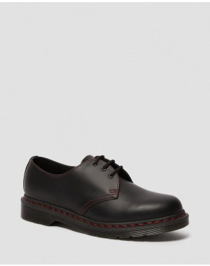 1461 CONTRAST STITCH SMOOTH LEATHER OXFORD SHOES - BLACK SMOOTH