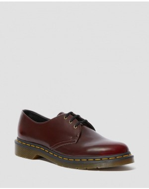 Black Friday Sale Dr. Martens VEGAN 1461 OXFORD SHOES - CHERRY RED OXFORD RUB OFF