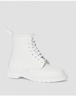 Dr.Martens 1460 MONO SMOOTH LEATHER LACE UP BOOTS - WHITE SMOOTH - Sale