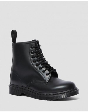 Black Friday Sale Dr. Martens 1460 MONO SMOOTH LEATHER LACE UP BOOTS - BLACK SMOOTH