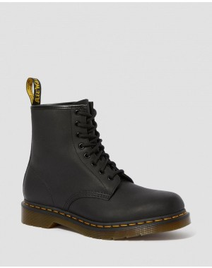 Dr.Martens 1460 GREASY LEATHER LACE UP BOOTS - BLACK GREASY - Sale