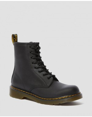 Dr.Martens YOUTH 1460 SOFTY T LEATHER LACE UP BOOTS - BLACK SOFTY T - Sale