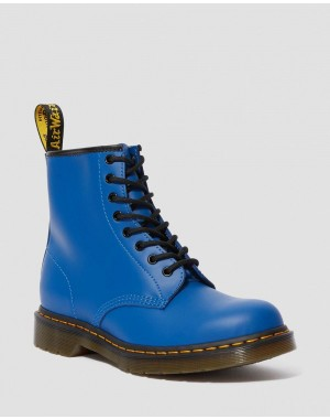 Black Friday Sale Dr. Martens 1460 SMOOTH LEATHER LACE UP BOOTS - BLUE SMOOTH