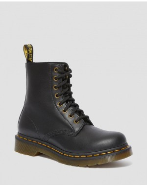 Black Friday Sale Dr. Martens 1460 PASCAL WOMEN'S WANAMA LEATHER BOOTS - BLACK WANAMA