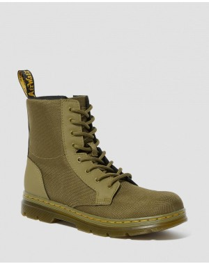Dr.Martens YOUTH COMBS EXTRA TOUGH POLY CASUAL BOOTS - DMS OLIVE EXTRA TOUGH POLY+RUBBERY - Sale