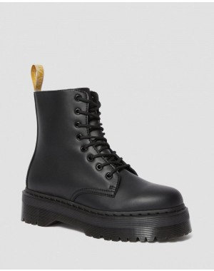 Black Friday Sale Dr. Martens VEGAN JADON II MONO PLATFORM BOOTS - BLACK FELIX RUB OFF