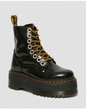 Black Friday Sale Dr. Martens JADON MAX WOMEN'S PLATFORM BOOTS - BLACK BUTTERO