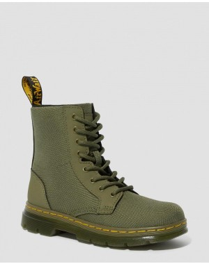 Dr.Martens JUNIOR COMBS EXTRA TOUGH POLY CASUAL BOOTS - DMS OLIVE EXTRA TOUGH POLY+RUBBERY - Sale