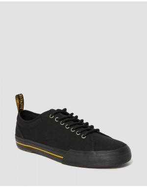 Black Friday Sale Dr. Martens VONTIL CANVAS CASUAL SHOES - BLACK CANVAS