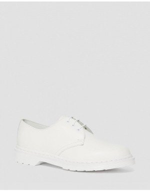 Black Friday Sale Dr. Martens 1461 MONO SMOOTH LEATHER OXFORD SHOES - WHITE SMOOTH