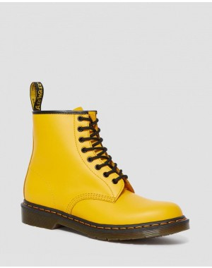 Black Friday Sale Dr. Martens 1460 SMOOTH LEATHER LACE UP BOOTS - YELLOW SMOOTH