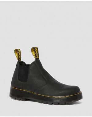 Black Friday Sale Dr. Martens HARDIE CHELSEA WORK BOOTS - BLACK PIT QUARTER