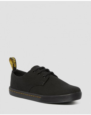 Black Friday Sale Dr. Martens SANTANITA WOMEN'S CANVAS CASUAL SHOES - BLACK CANVAS