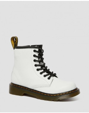 JUNIOR 1460 LEATHER LACE UP BOOTS - WHITE ROMARIO