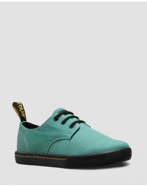 Black Friday Sale Dr. Martens SANTANITA WOMEN'S CANVAS CASUAL SHOES - PALE TEAL CANVAS