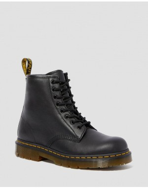 Black Friday Sale Dr. Martens 1460 SLIP RESISTANT LEATHER LACE UP BOOTS - BLACK INDUSTRIAL FULL GRAIN