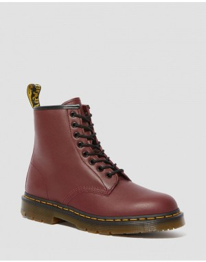 Dr.Martens 1460 SLIP RESISTANT LEATHER LACE UP BOOTS - CHERRY RED INDUSTRIAL FULL GRAIN - Sale