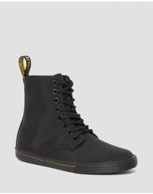 Dr.Martens JUNIOR SHERIDAN CANVAS CASUAL BOOTS - BLACK T CANVAS - Sale