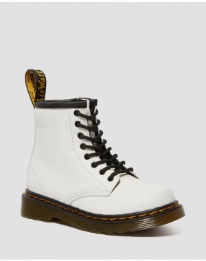 Black Friday Sale Dr. Martens TODDLER 1460 LEATHER LACE UP BOOTS - WHITE ROMARIO