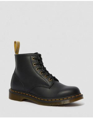 Black Friday Sale Dr. Martens VEGAN 101 FELIX ANKLE BOOTS - BLACK FELIX RUB OFF