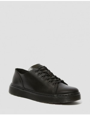 Black Friday Sale Dr. Martens DANTE BRANDO LEATHER CASUAL SHOES - BLACK BRANDO