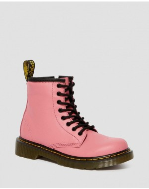 JUNIOR 1460 LEATHER LACE UP BOOTS - ACID PINK ROMARIO
