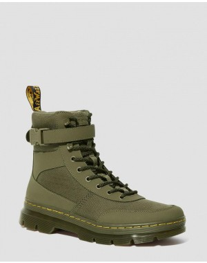 Black Friday Sale Dr. Martens COMBS TECH EXTRA TOUGH POLY CASUAL BOOTS - DMS OLIVE EXTRA TOUGH POLY+AJAX