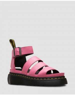 Dr.Martens CLARISSA II WOMEN'S LEATHER PLATFORM SANDALS - SOFT PINK AUNT SALLY - Sale
