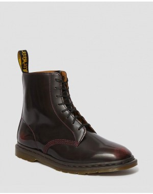Black Friday Sale Dr. Martens WINCHESTER II ARCADIA LEATHER LACE UP BOOTS - CHERRY RED ARCADIA
