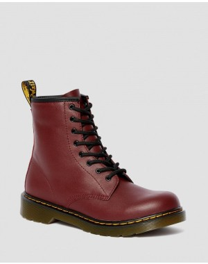 Dr.Martens YOUTH 1460 SOFTY T LEATHER LACE UP BOOTS - CHERRY RED SOFTY T - Sale