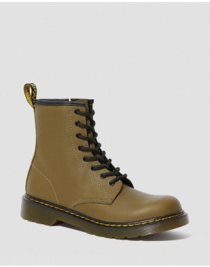 YOUTH 1460 LEATHER LACE UP BOOTS - DMS OLIVE ROMARIO