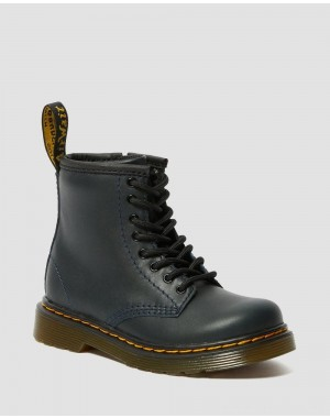 Black Friday Sale Dr. Martens TODDLER 1460 LEATHER LACE UP BOOTS - NAVY ROMARIO