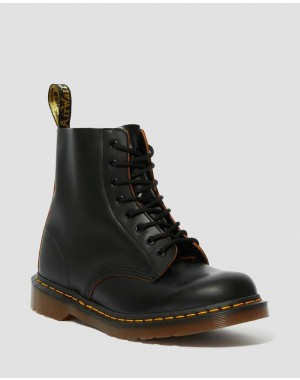 1460 VINTAGE MADE IN ENGLAND LACE UP BOOTS - BLACK QUILON