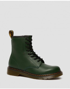 YOUTH 1460 LEATHER LACE UP BOOTS - DMS GREEN ROMARIO