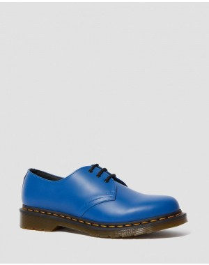 Black Friday Sale Dr. Martens 1461 SMOOTH LEATHER OXFORD SHOES - BLUE SMOOTH