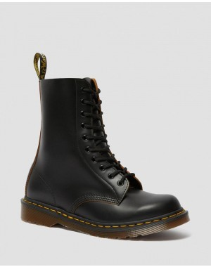 Dr.Martens 1490 VINTAGE MADE IN ENGLAND MID CALF BOOTS - BLACK QUILON - Sale