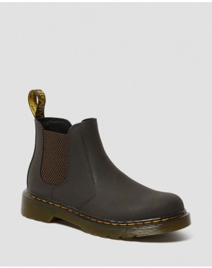 Black Friday Sale Dr. Martens JUNIOR 2976 WILDHORSE LEATHER CHELSEA BOOTS - GAUCHO WILDHORSE LAMPER