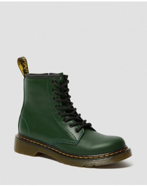 Dr.Martens JUNIOR 1460 LEATHER LACE UP BOOTS - DMS GREEN ROMARIO - Sale